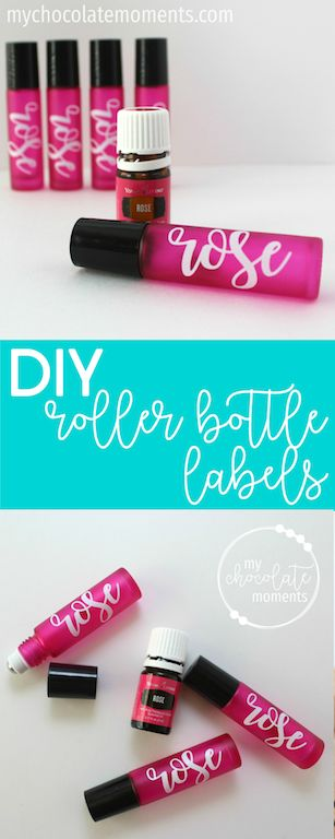 DIY essential oil roller bottle labels with vinyl | Silhouette | cricut | Young Living | Doterra