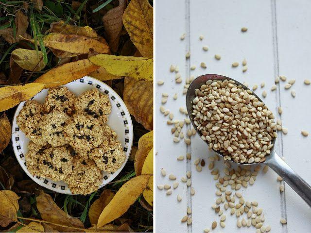 Delicious blog: Ovesno-sezamové sušenky