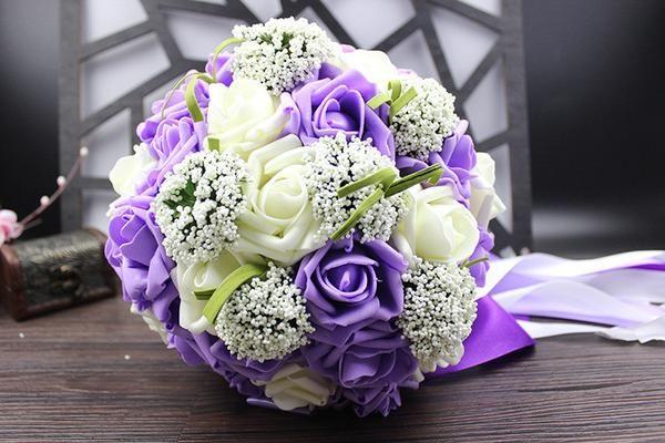 Five Colors Bridal Wedding Bouquet