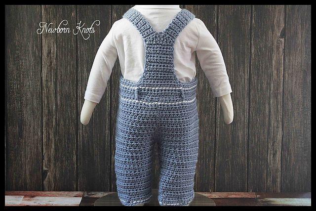 Ravelry: Denim Style Baby Overalls. #62 pattern by Amanda Chapman