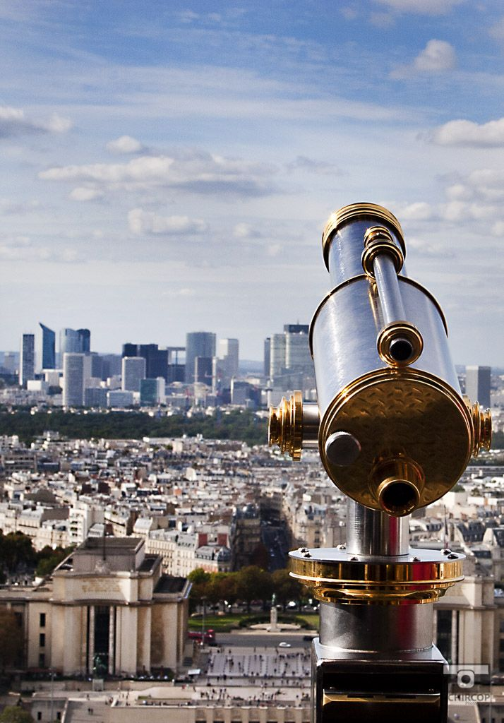 Above Paris, mémoire du paris. #Paris #France #Street Photography #Architecture #Cityview #city #Telescope