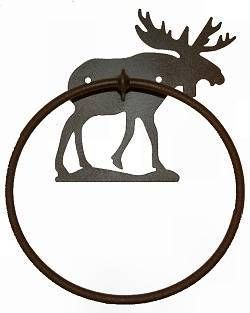 The Big Red Neck Trading Post - Wildlife Decor Lodge Decor Rustic Metal Towel Rings, $25.99 (http://www.thebigrednecktradingpost.com/products/wildlife-decor-lodge-decor-rustic-metal-towel-rings.html)