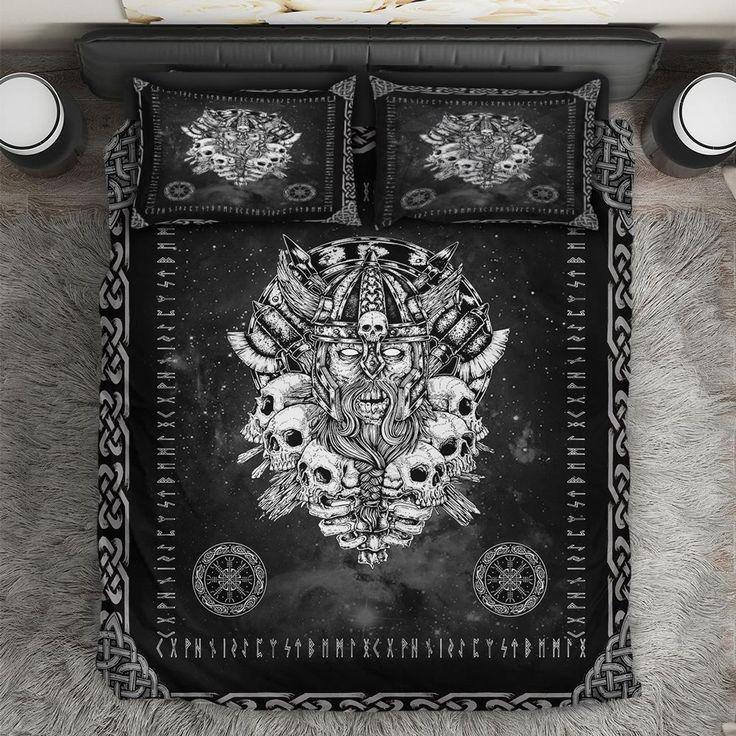 Thevitic™ Nordic Viking Skull Bedding Set HD04420 in 2020