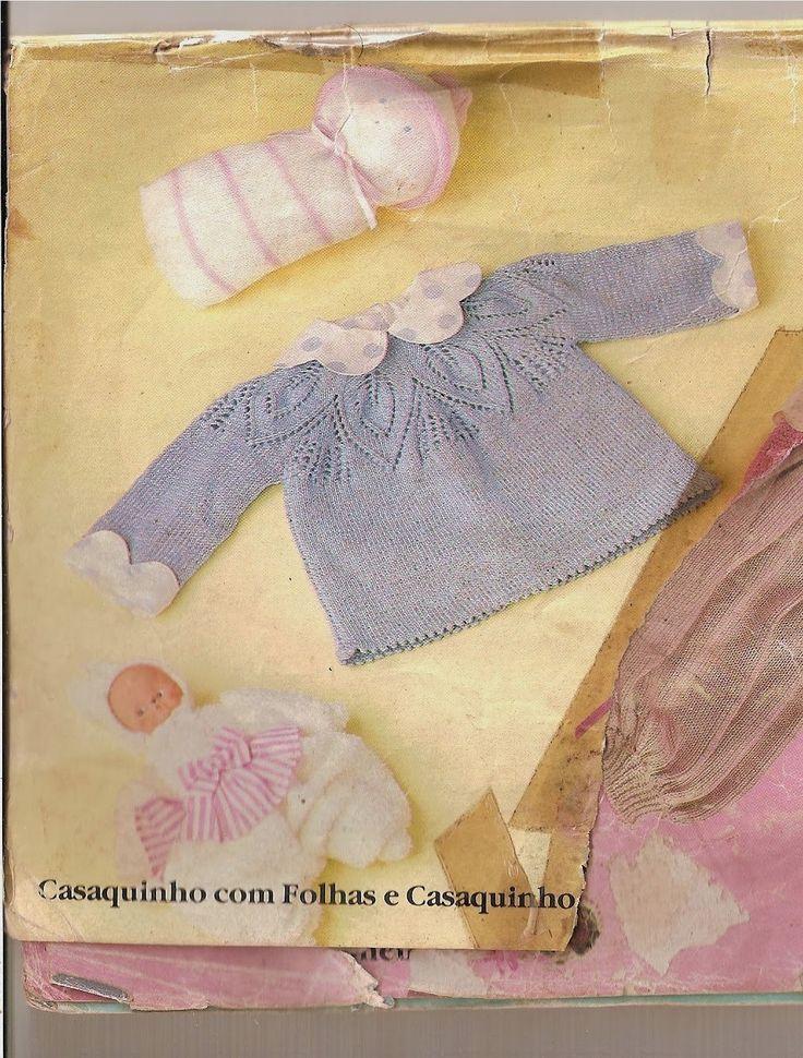 Tecendo Arte: Casaquinho em tricô para bebê, com receita!