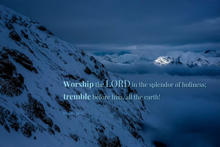 [Psalm 96:9 ESV] Worship the LORD in the splendor of holiness; tremble before him, all the earth!