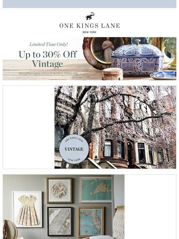 Milled Is A Search Engine For Email Newsletters Find Sales Deals Coupons And Discount Codes From Retailers A One Kings Lane Vintage Find Sales Gallery Wall
