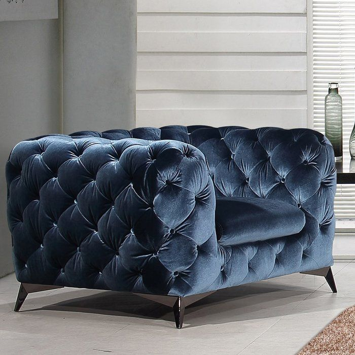 Azu Armchair Blue Fabric Chairs Blue Fabric Armchair Blue Fabric Sofa
