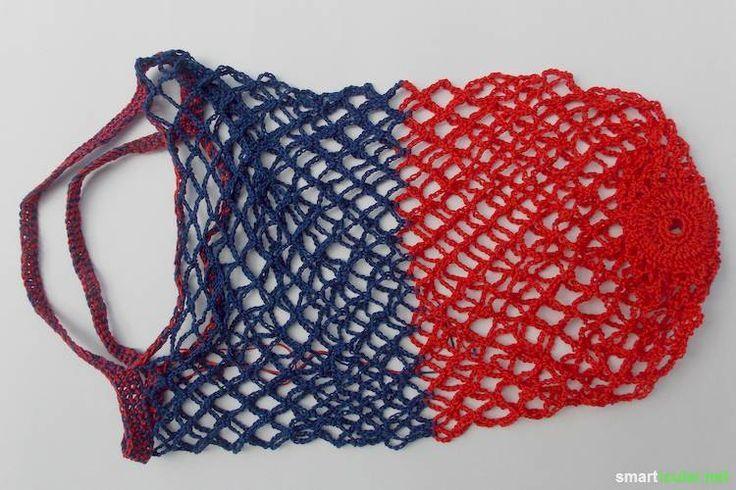 Auf Plastiktüten zu verzichten ist einfacher, als viele Menschen glauben. Dieses stabile Netz ist klein in der Tasche und genial beim Einkaufen!