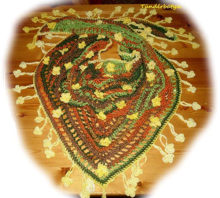 shawl with springflowers #shawl #Tündérbatyu http://www.facebook.com/tunderbatyu