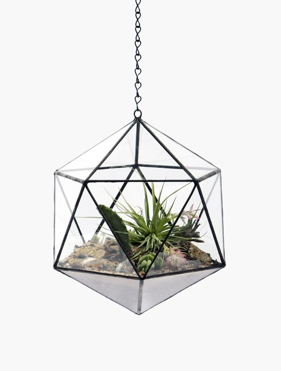 Suspended Tetra Hanging Terrarium and Glass Crafts for Office/Garden/Home Decoration Glass Planters