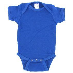 Royal Blue 0 - 3 Months Solid Infant Creeper