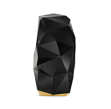 The Black Diamond by Boca do Lobo is a luxury safe with a emblematic design and distinct feel  www.bocadolobo.com
