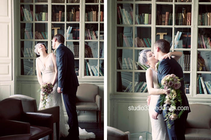 #library kissing  http://www.studio33weddings.com/blog/