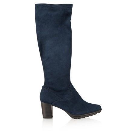 Marco Tozzi Imit Suede Boot - Blue