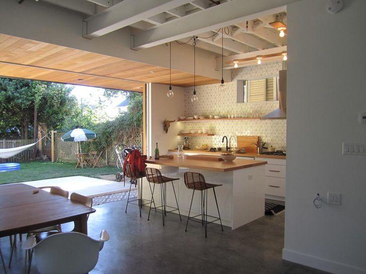 Carscadden Stokes McDonald Architects Inc HOUSE RENOVATION modern kitchen indoor outdoor lifestyle