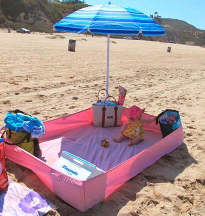 Handig en zó simpel: hoeslaken op het strand