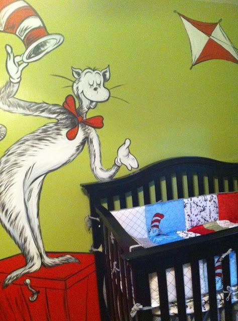1000 ideas about nursery murals on pinterest nursery for Dr seuss nursery mural