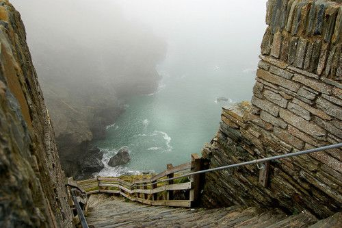 The path down to Tintagel Castle, Cornwall - hauntingly beautiful