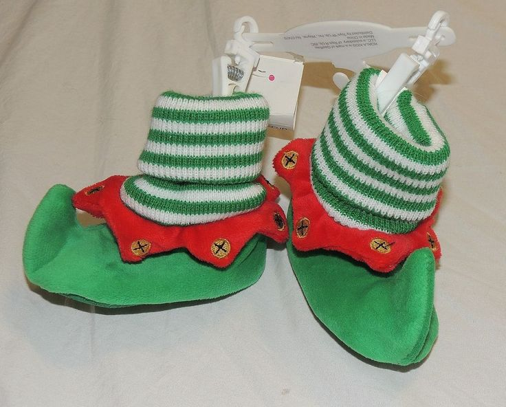 New Unisex Baby Elf Shoes Slippers Costume First Christmas Size 0-6 Months Green #KoalaKids #Slippers