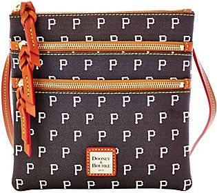 Dooney & Bourke MLB Pirates Triple Zip Crossbody