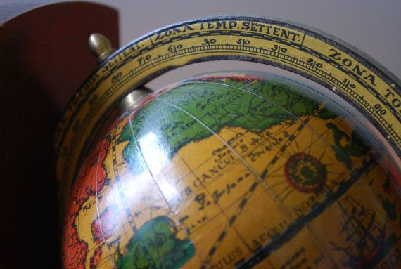 "Vintage ""Old World Style"" Rotating Globe Bookends - Pair - Office Decor - Mediterranean on Etsy, $40.00"