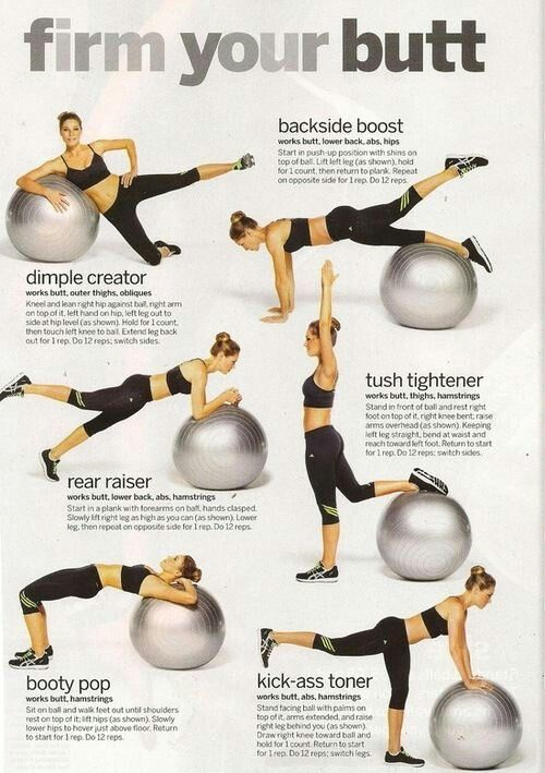 Stability Ball Glute Exercises | Fitness | Pinterest ...