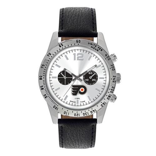"Philadelphia Flyers NHL Mens Letterman Series"" Quartz Analog Watch"""