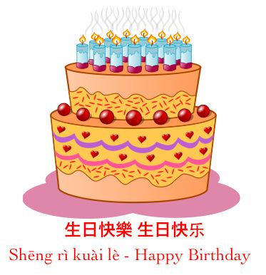 how to write happy birthday in chinese language