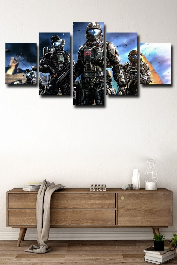 Halo Main Characters In 2020 Canvas Art Wall Decor Canvas Wall Art Wall Art Decor