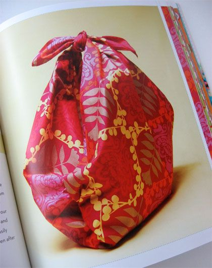 Furoshiki is a type of traditional Japanese wrapping cloth used for gift wrapping. I am totally taken with this method for wrapping gifts. It is not only beautiful but also eco friendly. My sister-in-law loves wrapping gifts so for her birthday I ordered an advance copy of the book, Wrapagami: The Art of Fabric Gift Wraps. I packaged the order slip like this with a Furoshiki cloth I made for...