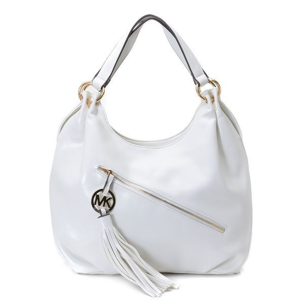 Michael Kors Chain Large White Hobo Outlet