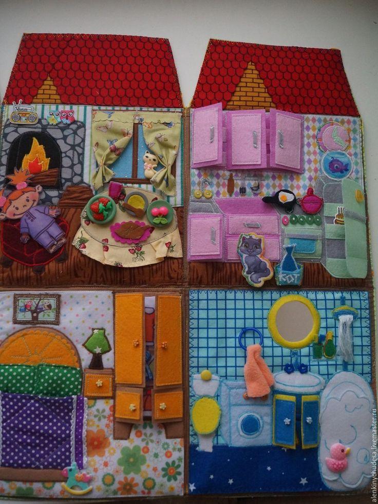 Купить Кукольный домик.Лелькин домик - комбинированный, домик, кукольный дом, фетротворчество, развивающая игрушка