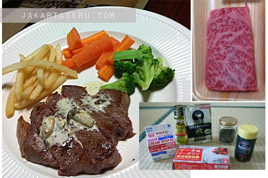 Steak Saus Jamur merupakan masakan pertama saya yang sukses!!! Untuk itulah artikel tentang resep ini saya posting pertama, sebagai penghormatan saya terhadap rasa saus jamur yang creamy dan asli sangat berkelas!!! Bahkan beberapa kali makan di restaurant bintang, kadang saya merasa resep saus jamur ini rasanya masih jauh lebih enak.