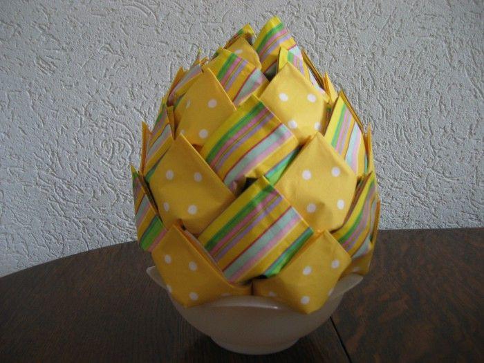 AVA servetten vouwen: de ananas dit filmpje op You Tube is het zelfde van opbouw