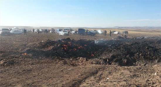 Haberin Ola! | Sivas'ta düşen uçaktan ilk görüntüler - Sivas'ın Kangal ilçesi yakınlarında F-4 tipi askeri uçak düştü.