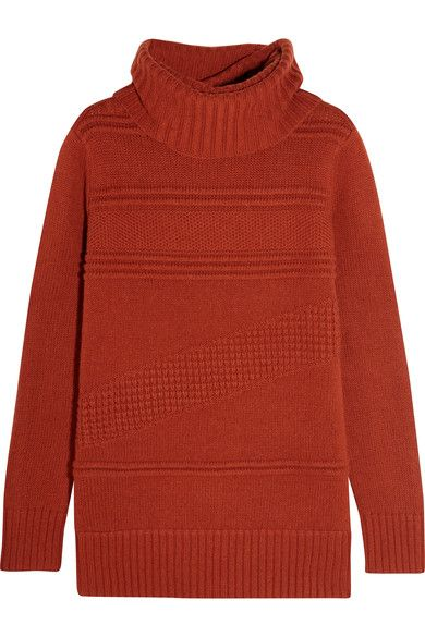 Brick wool and cashmere-blend Slips on 70% wool, 30% cashmere Dry clean Designer color: Carnelian Imported
