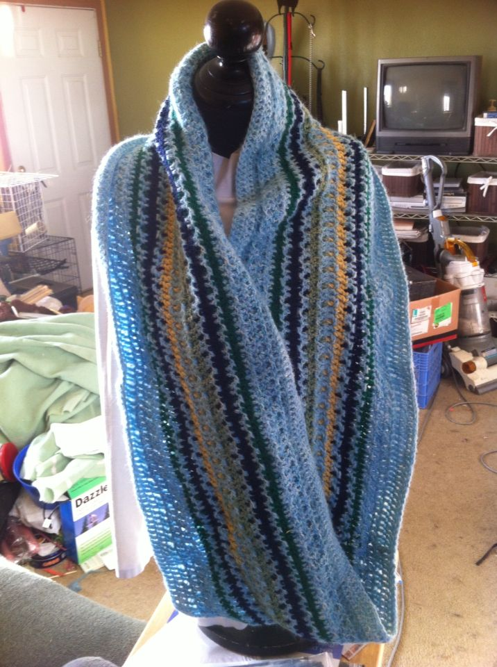 Long infinity with mock mohair for a soft finish