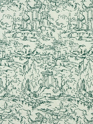 Meeting Place/Cove: A Modern Toile In A Moody, Aquatic Green. # Part 62