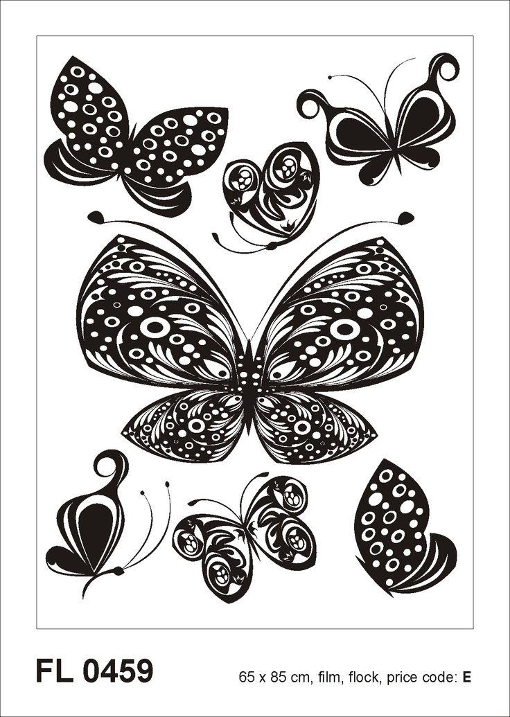 Samolepicí dekorace Motýli F0459