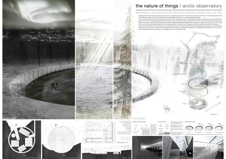 [A3N] : Aurora Borealis Arctic Observatory Competition Winner 2012 ( 1st prize : Nature of Thing ) / Tadashi Tamura, Takumi Muraoka, Risa Horikoshi.( Waseda University)