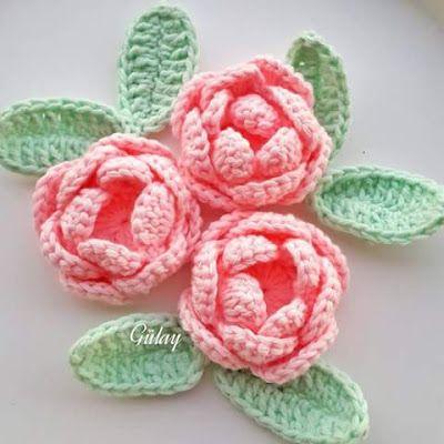 Irish crochet &: CROCHET ROSES ... РОЗЫ КРЮЧКОМ