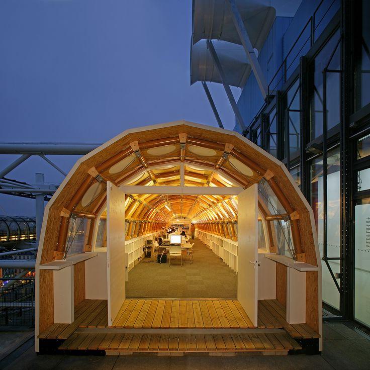 Paper Temporary Studio, 2004, Paris, France, by Shigeru Ban (2014 Pritzker)