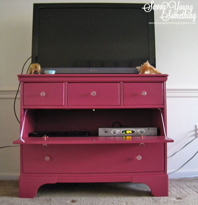 antique dresser turned tv stand instead of removing drawer make drawer front into a door