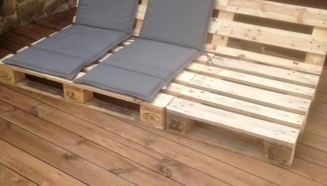 Ein Holzdeck und das ERSTE Palettenprojekt