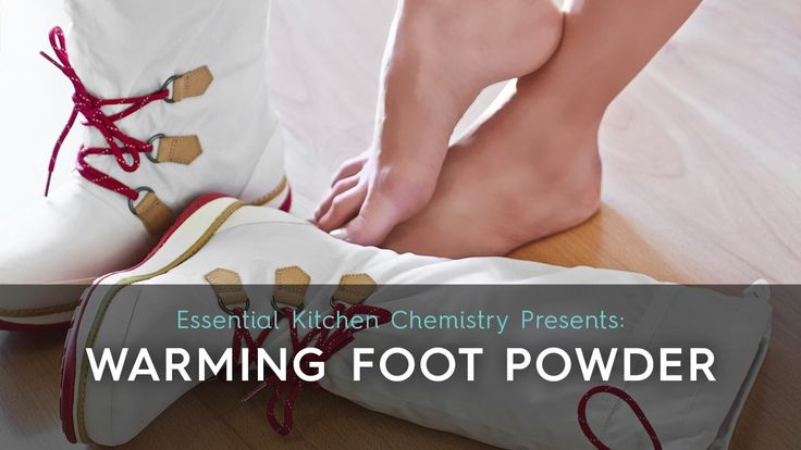 Cold weather means our feet are constantly covered with socks and slippers indoors and shoes and boots outdoors. This warming foot powder will help keep feet dry, warm, and best of all smelling fresh and clean.