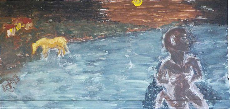 Imagem da estátua do Negrinho do Pastoreio, por Vasco Prado e formiga no tronco de uma árvore. Poema autoral. Negrinho do Pastoreio, por Ceclília Meireles;por Paulo Werneck; por Barbosa Lessa João Simões Lopes Neto e Jayme Caetano Braun. Oração ao Negrinho, por Augusto Meyer.