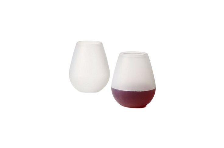 Silicone Stemless Wine Glasses - Set of 4