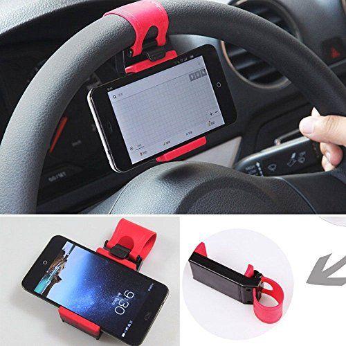 Volant de voiture universel support support support support pour smartphone, téléphone portable, car mount holder multifonctionnel steering…
