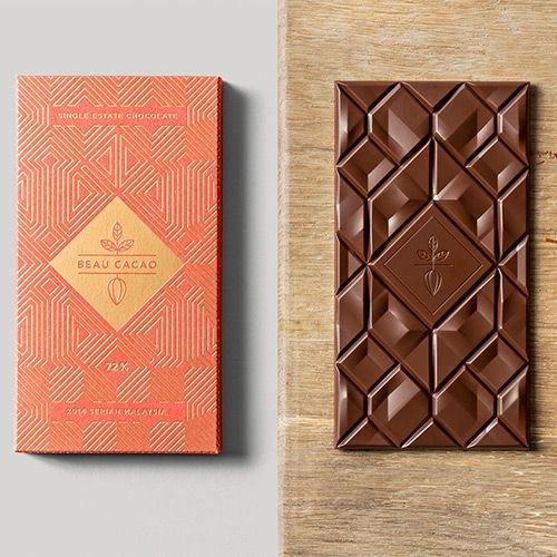 Chocolate bar and packaging design by Adam Gill...
