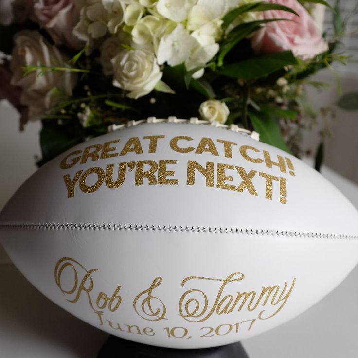 Congratulations and best wishes Rob & Tammy! #wedding #football #garter #toss #lagniappelife